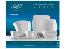 Serwis obiadowo kawowy 6 osób Victoria