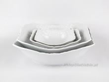 Salaterka 24 cm Ćmielów Rococo 001 (biała)