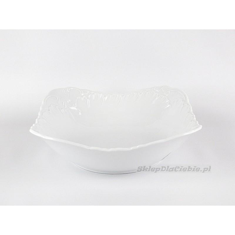 Salaterka 27 cm Ćmielów Rococo 001 (biała)