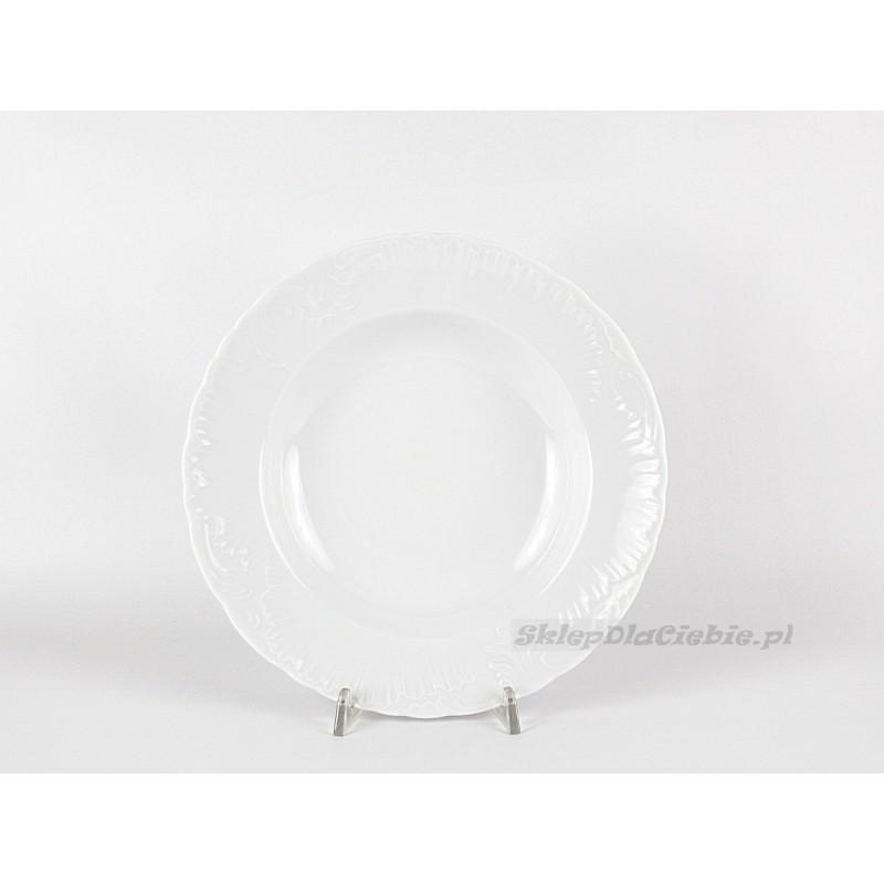 Talerz głęboki 22,5 cm Ćmielów Rococo 001 (białe)