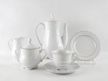 Serwis do kawy 12 osób Ćmielów Rococo 3604 39 elementów