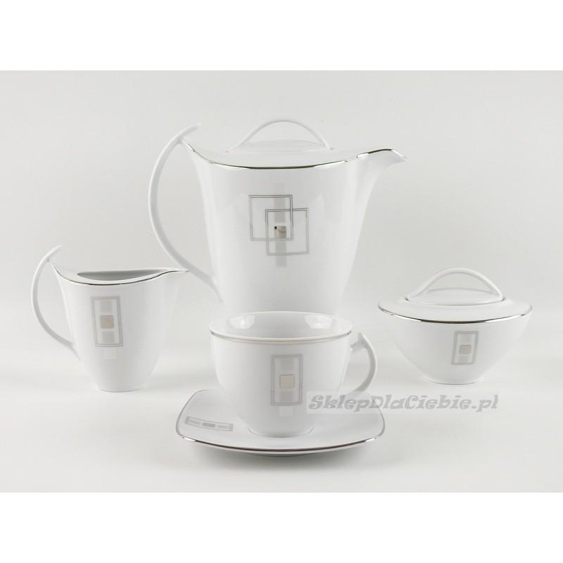 Serwis do kawy 12 osób Ćmielów Akcent E635