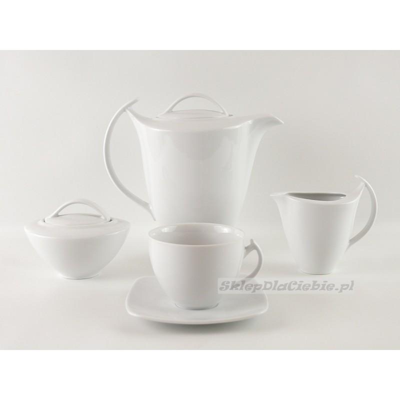 Serwis do kawy 12 osób Ćmielów (filiżanka 0,25l) Akcent Biały