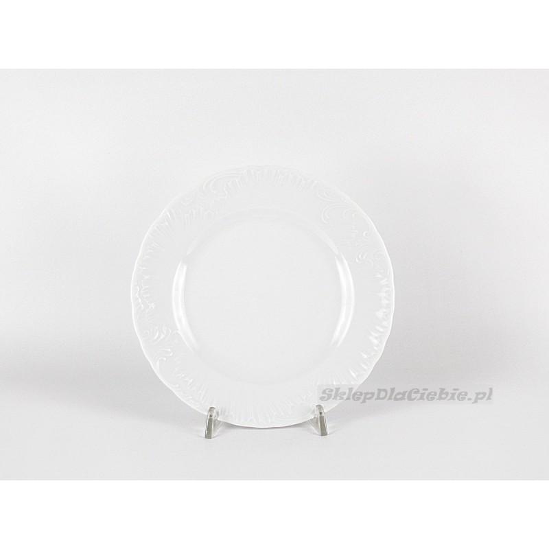 Talerz płytki  21 cm Ćmielów Rococo 001 (białe)