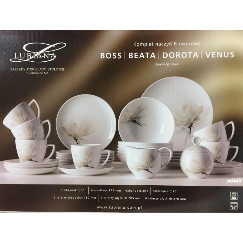 Serwis obiadowo kawowy 6 osób Boss 6474