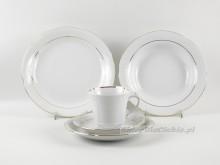 Serwis obiadowo-kawowy 6 osób Ćmielów Kamelia B014