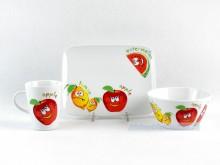 Zestaw śniadaniowy 3 el. Trendy owoce