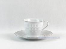 Zestaw do kawy 6 osób Sofia 3607 (srebrny pasek)