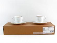Zestaw do kawy 6 osób Sofia 3604 (złoty pasek)